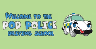 Polly the Police cars driving school