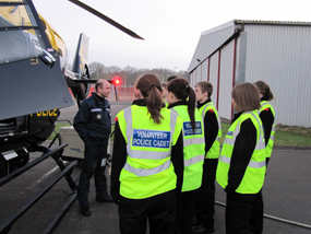 Cadets flying high on visit to Air Support Unit