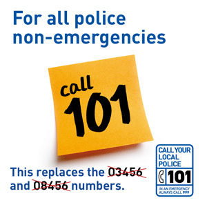 101 replaces the 03456 and 08456 numbers