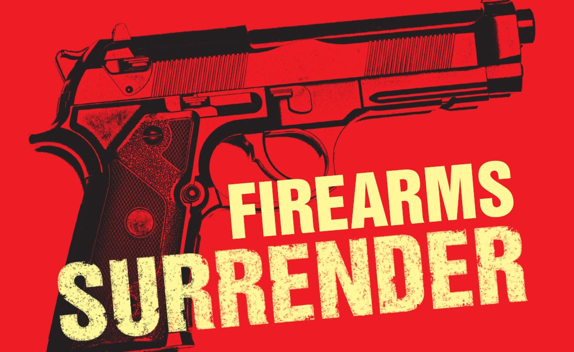 Firearms surrender visual news story