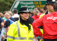 An officer policing the Great North Run