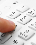 Dialling on a phone keypad