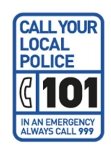Call 101 to report a non-emergency